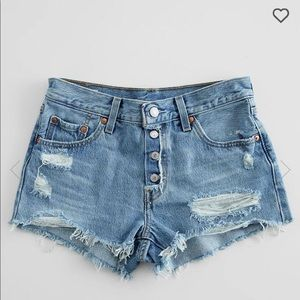ISO Levi's 501 Short Exposed Fly size 26